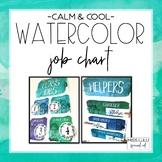 Calm & Cool Watercolor Classroom Job Chart