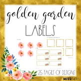 Golden Garden Labels {Editable}