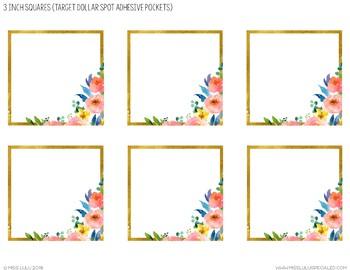 Golden Garden Labels {Editable}