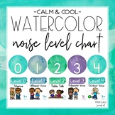 Calm & Cool Watercolor Noise Level Chart