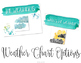 Calm & Cool Watercolor Weather and Seasons Chart