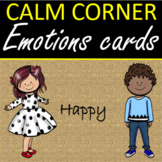 Calm Corner Burlap Emotions Cards  Posters