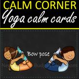 Calm Corner Chalkboard stitch Yoga and Mindfulness Cards