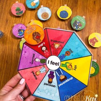 Calm Corner Clip Card: Identify Feelings & Choose Calming Strategies