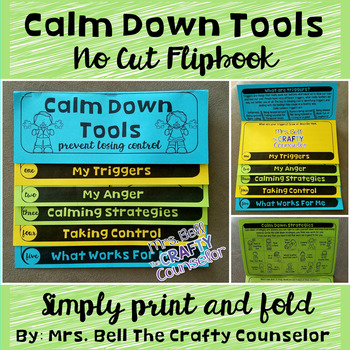 Calm Down Anger Control Flipbook