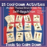 Calm Down- Animal-Theme Yoga Cards: Self-Regulation, Brain