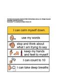 Calm Down Board Visual Aid