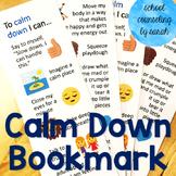 Calm Down Bookmark