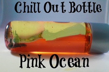 Calm Down Bottle (sensory) Pink Ocean style for the classroom