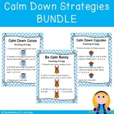 Calm Down Breathing Strategies Posters & Student Cards BUNDLE
