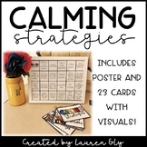 Calming Strategies Poster & 23 Cards With Visuals