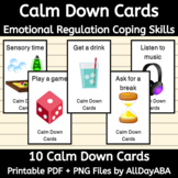 Calm Down Cards - ABA & Special Education - by AllDayABA