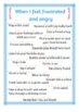Calm - Down Cards Strategies For Managing Anger and Frustration Printables