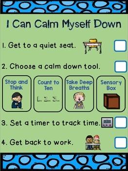 Calm Down Chart Freebie!