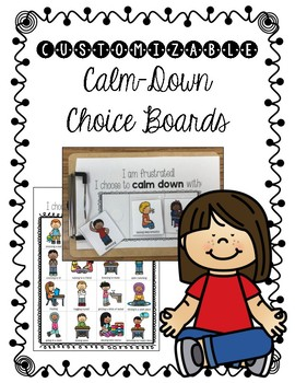 Calming Strategies Choice Boards