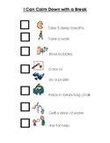 Calm Down Choice Checklist