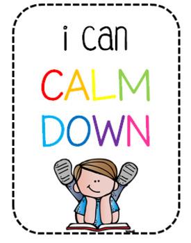 Calm Down Choices