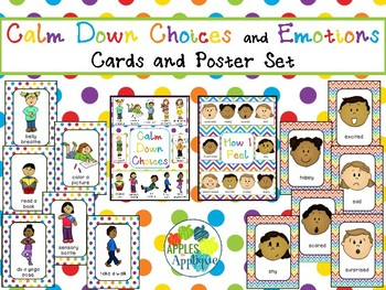 Calm Down Choices and Emotions Cards and Poster Set