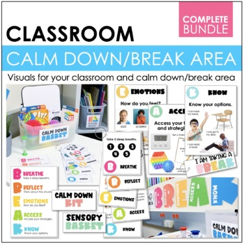 Calm Down Classroom Posters