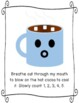 Calm Down Cocoa Hot Chocolate Breathing Strategy Posters & Student Cards