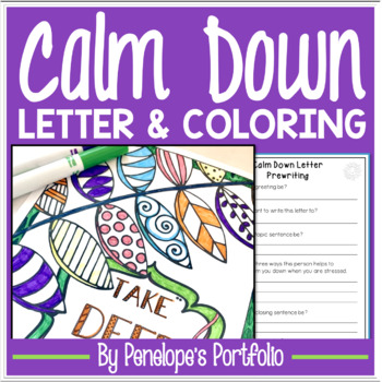 Calm Down Coloring Pages Posters