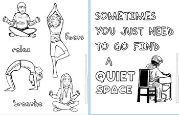Calm Down Coloring Pages-Visuals for OLDER Students!