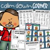 Calm Down Corner Calming Strategies Self Reflection Visual Cards Coping Skills