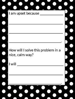 Calm Down Corner (Editable) Classroom Management Tool