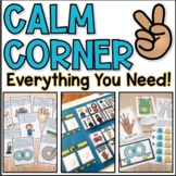 Calm Down Corner Lesson, Centers, Visuals, and Lapbook for Self-Regulation