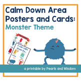 Calm Down Corner - Mindfulness Posters- Monster Theme