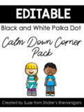 Calm Down Corner Pack {Black and White Polka Dot with Brig