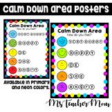 Calm Down Corner Posters