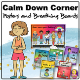 Calm Down Corner Posters and Breathing Boards l calm corner