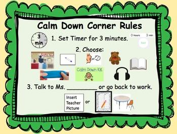 Calm Down Corner Rules