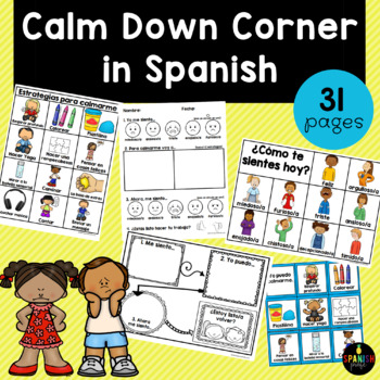 Calm Down Corner in Spanish - Spanish Take a Break