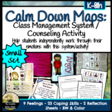 Calm Down Feelings Maps: Class Management System/Counseling Activity *SMALL SET