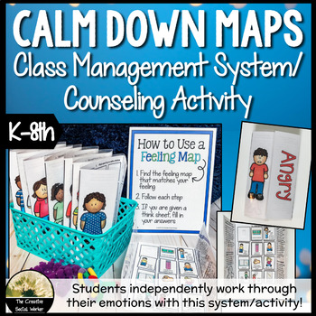 Calm Down Feelings Maps: Class Manage. System or Counselin