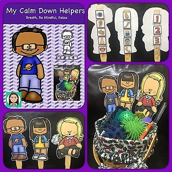Calm Down Helpers: Posters, Finger Puppets, Interactive Items