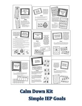 Calm Down Kit- Behavior IEP Goals/Data Sheets