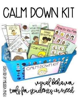 Calm Down Kit- Visual Behavioral Management Tools for Stud