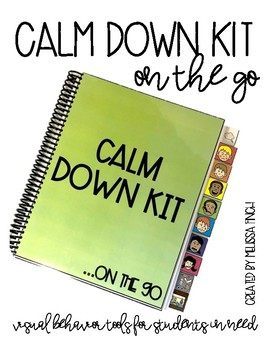 Calm Down Kit On The Go- Visual Behavior Tools for Student