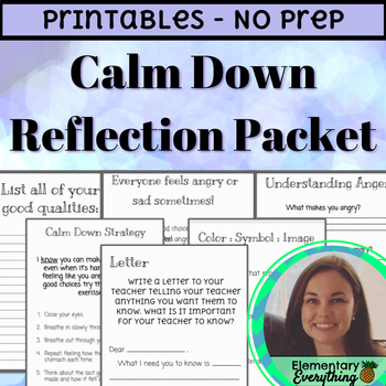 Calm Down Packet | Independent | No-Prep | Print & Go