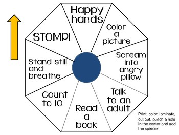 Calm Down Reminders and Solution Spinner