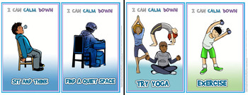 Calm Down Self Regulation Mini Posters-Visuals for OLDER Students!