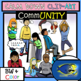 Calm Down Self Regulations Clip-Art-Visuals for OLDER Students! 56 Pieces!