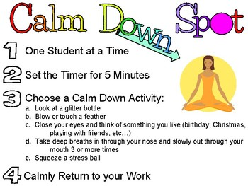 Calm Down Spot Poster