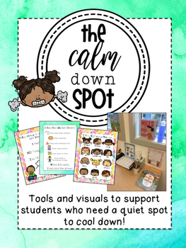 Calm Down Spot {Resources for the General or Special Ed Cl