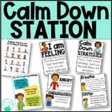 Calm Down Station - Feeling Cards, Strategy Cards, Reflect