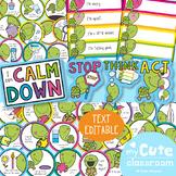 Calm Down Strategies Classroom Display Kit