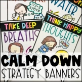Calm Down Strategy Pennant Banners